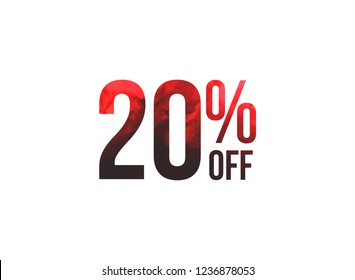 20% of the discount, promotion sale offer.
