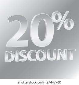 20% Discounts / vector