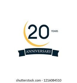 20 happy anniversary design template. vector eps 10