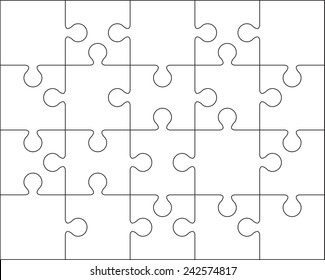 20 Jigsaw puzzle blank template or cutting guidelines : 4:5 ratio