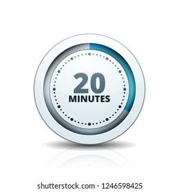 20 Minutes Time button illustration