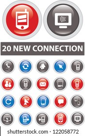 20 new connection icons set, vector