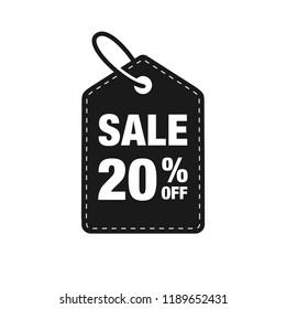 20% Off discount label symbols vector