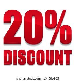 20 percent discount text