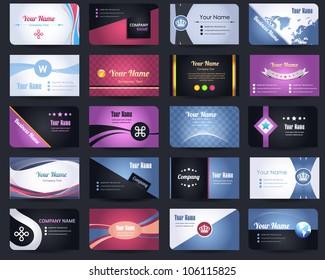 20 Premium Business Card Design Vector Set - 06