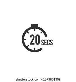 20 seconds Countdown Timer icon set. time interval icons. Stopwatch and time measurement. Stock Vector illustration isolated on white background.
