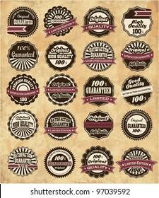 20 set High Quality Labels whit vintage design