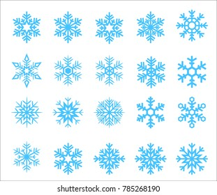 20 Snowflake shape collection