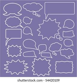 20 speech & ideas signs. vector