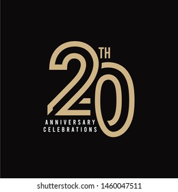 20 Th Anniversary Celebration Vector Template Design Illustration