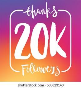 20 Thousand followers online social media achievement