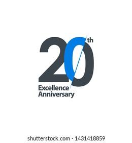 20 Year Anniversary Celebration Vector Template Design Illustration