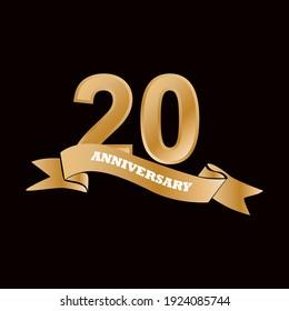 20 year anniversary celebration vector design illustration