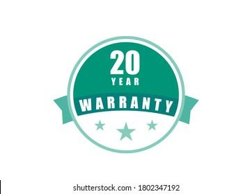20 Year Warranty image vectors