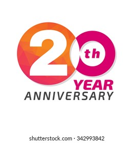 20 years anniversary celebration in the circle form