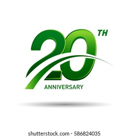 20 years anniversary. celebration logo design