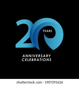 20 Years Anniversary Celebration Number Vector Template Design Illustration
