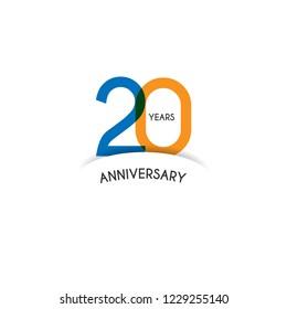20 years anniversary design template. Vector eps 10