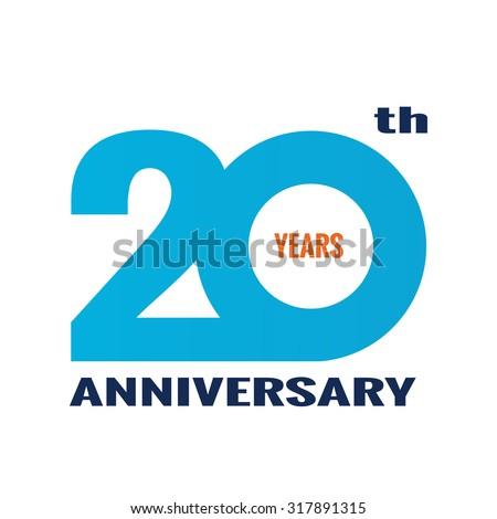 20 years anniversary logo design template のベクター画像素材