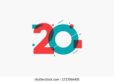 20 years anniversary logo template.
