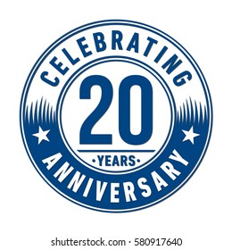 20 years anniversary logo. Vector and illustration.
