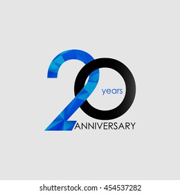 20 Years Anniversary with Low Poly Design