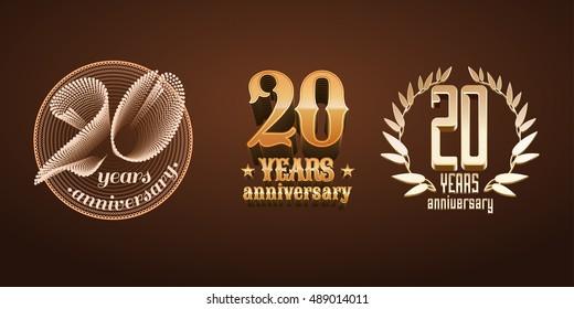 50 Years Anniversary Set Vector Logo Stock Vector Royalty Free