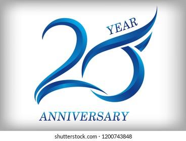 20 years anniversary Template logo
