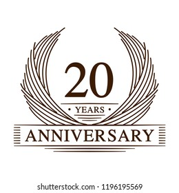 20 years design template. 20th anniversary. Vector and illustration.