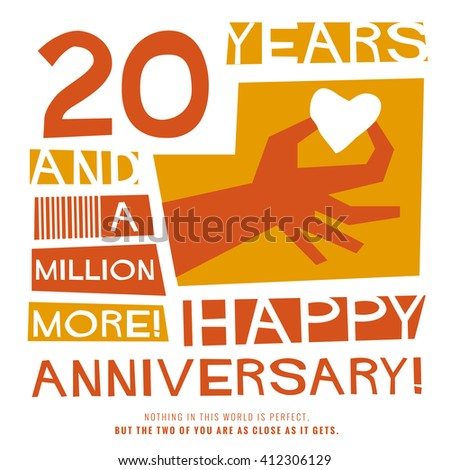 20 years happy anniversary vector illustration concept design