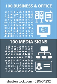 200 media, business, office icons