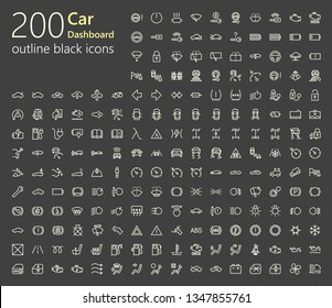 200 outline icons