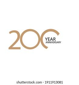 200 year anniversary celebration vector template design illustration