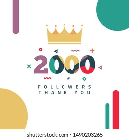 2000 Followers thank you design