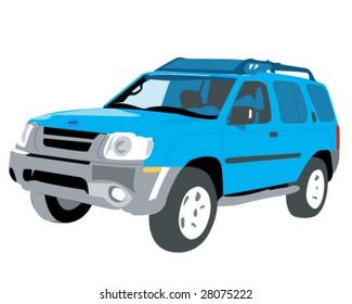 2004 Nissan Xterra Suv Vector Illustration Stock Vector Royalty