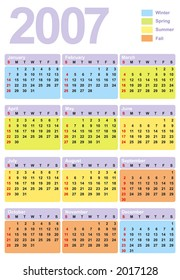 2007 calendar. Vector