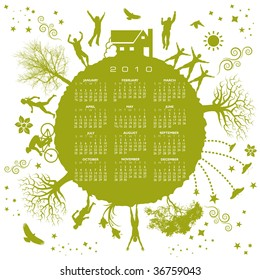 2010 green earth calendar