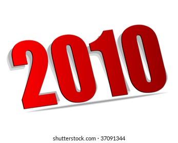 2010 year vector illustration