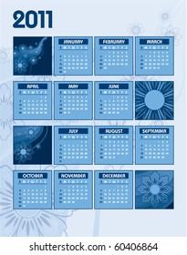 2011 Calendar. Abstract Illustration. eps10 format.