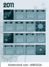 2011 Calendar. Vector Illustration.