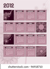 2012 Calendar. Abstract Background. Eps10.