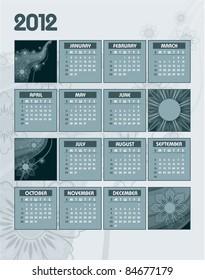 2012 Calendar. Abstract Illustration.