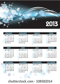 2013 Calendar.