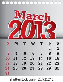2013 calendar april sticker design stock vector royalty free
