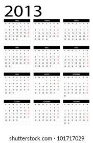 2013  new calendar