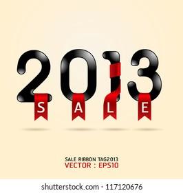 2013 sale ribbon vector