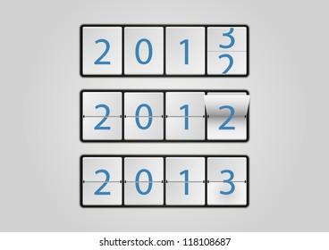 2013 ticker board calendar