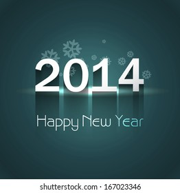 2014 celebration for happy new year colorful background