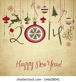 2014 Happy New Year background.