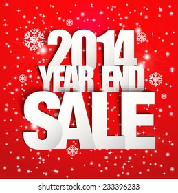 2014 Year End Sale Poster (Paper Folding Design)